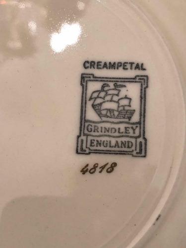 vajilla de losa inglesa grindley creampetal