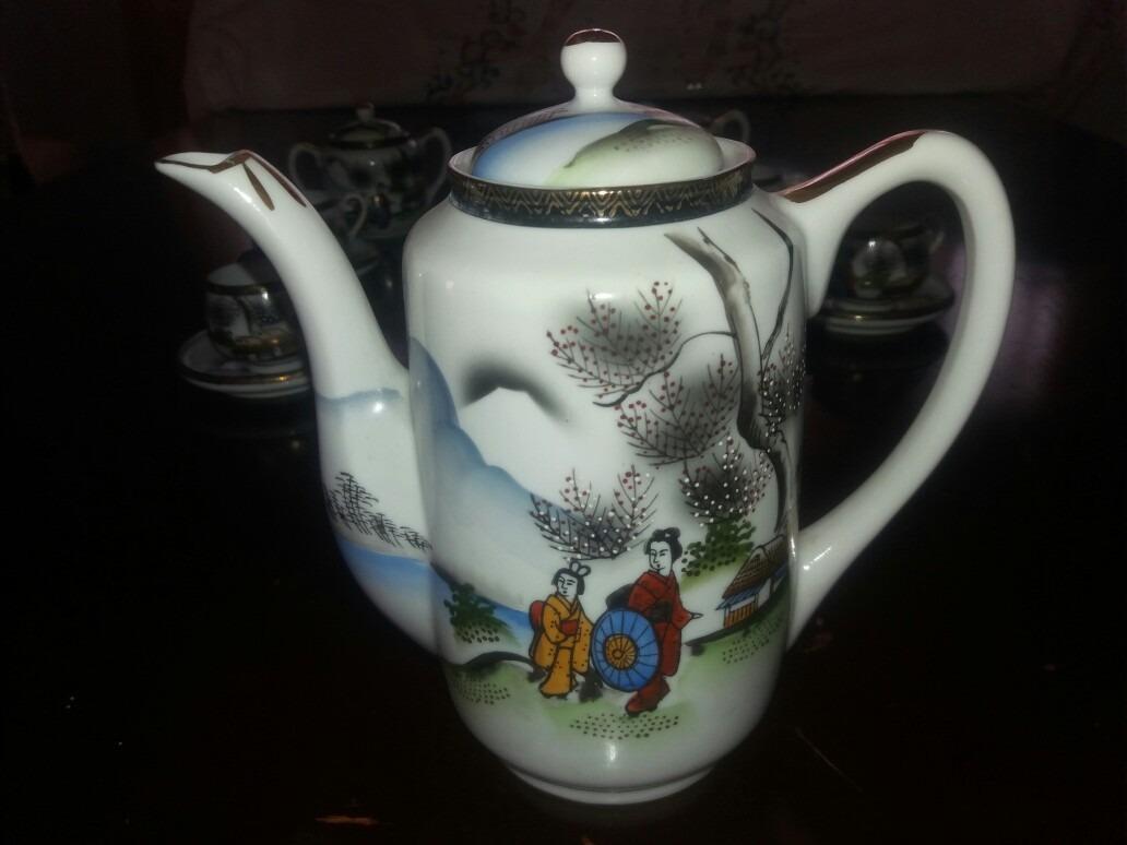 Vajilla de porcelana japonesa para cafe 17 piezas 6 for Vajilla porcelana