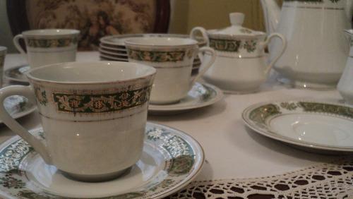 vajilla de porcelana made in japan. borde oro