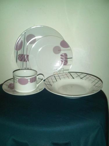 vajilla de porcelana marca unica para 4 personas 20 piezas