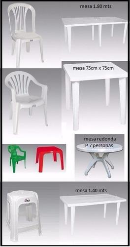 vajilla fiesta evento alquiler sillas