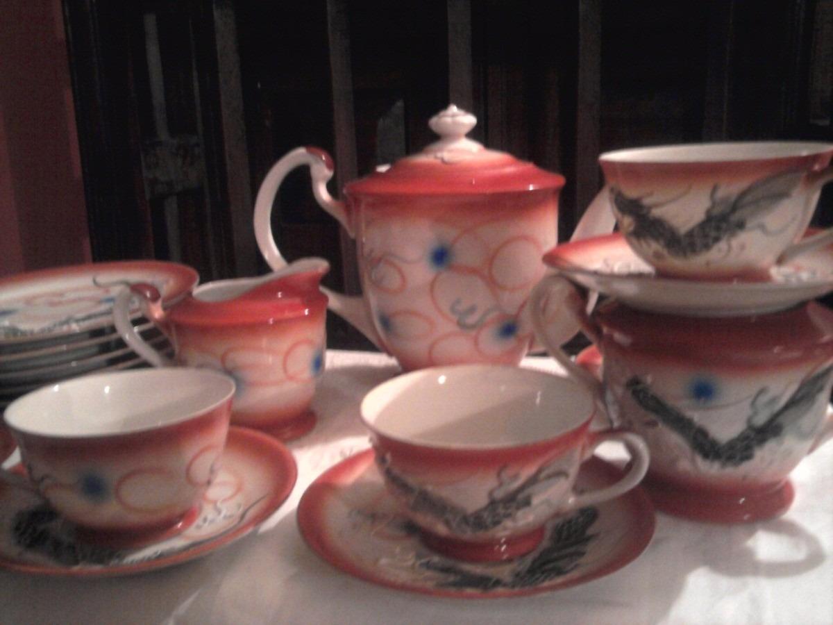 Vajilla japonesa completa porcelana dragones bs for Vajilla porcelana