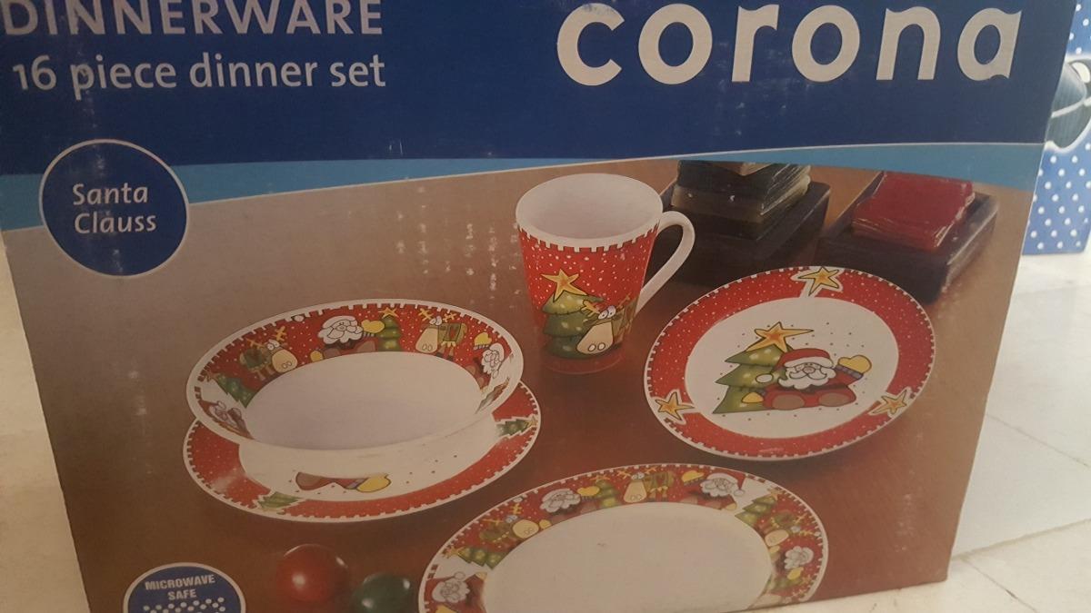 Vajilla navide a marca corona bs en mercado libre - Vajillas navidenas ...