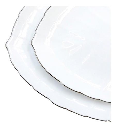 vajilla opal glass forma de hoja 20 piezas