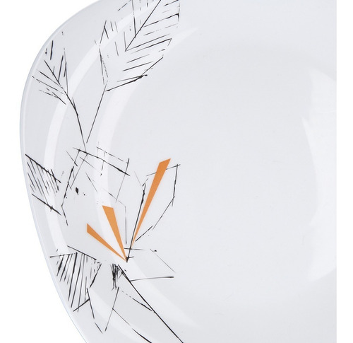 vajilla opal glass set cuadrado 20pz dibujo oriental