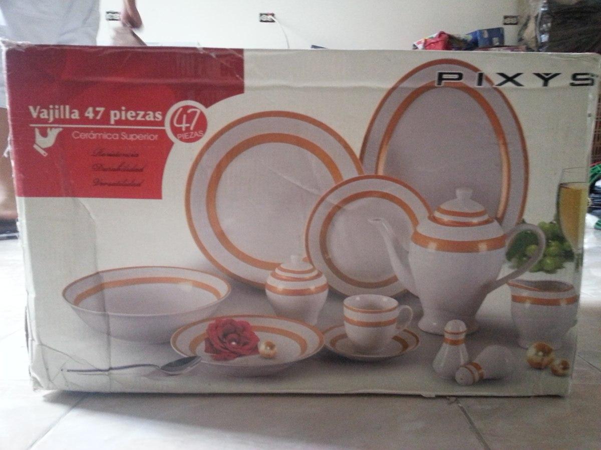 Vajilla Pixys De 47 Piezas Bs 40 000 00 En Mercado Libre # Muebles Tiendas Pixys