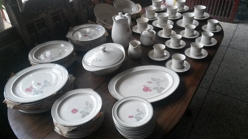 vajilla porcelana original rena-ware zylstra 81 piezas nueva