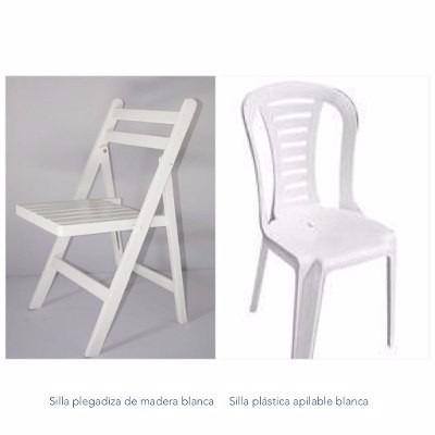 vajilla silla alquiler