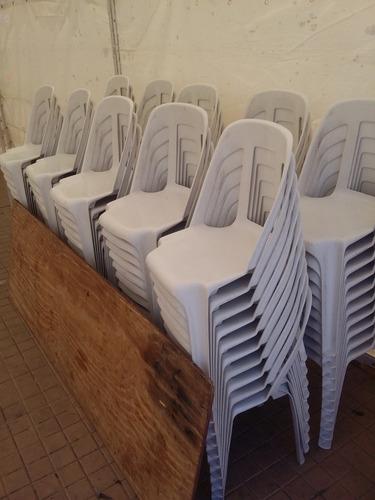 vajilla, sillas., alquiler