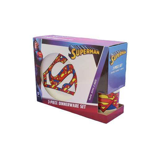 vajilla superman x 3 piezas r squared