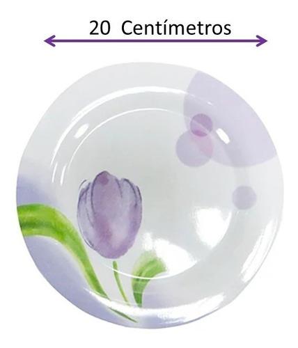 vajilla tulipan redonda de melamina 20 piezas