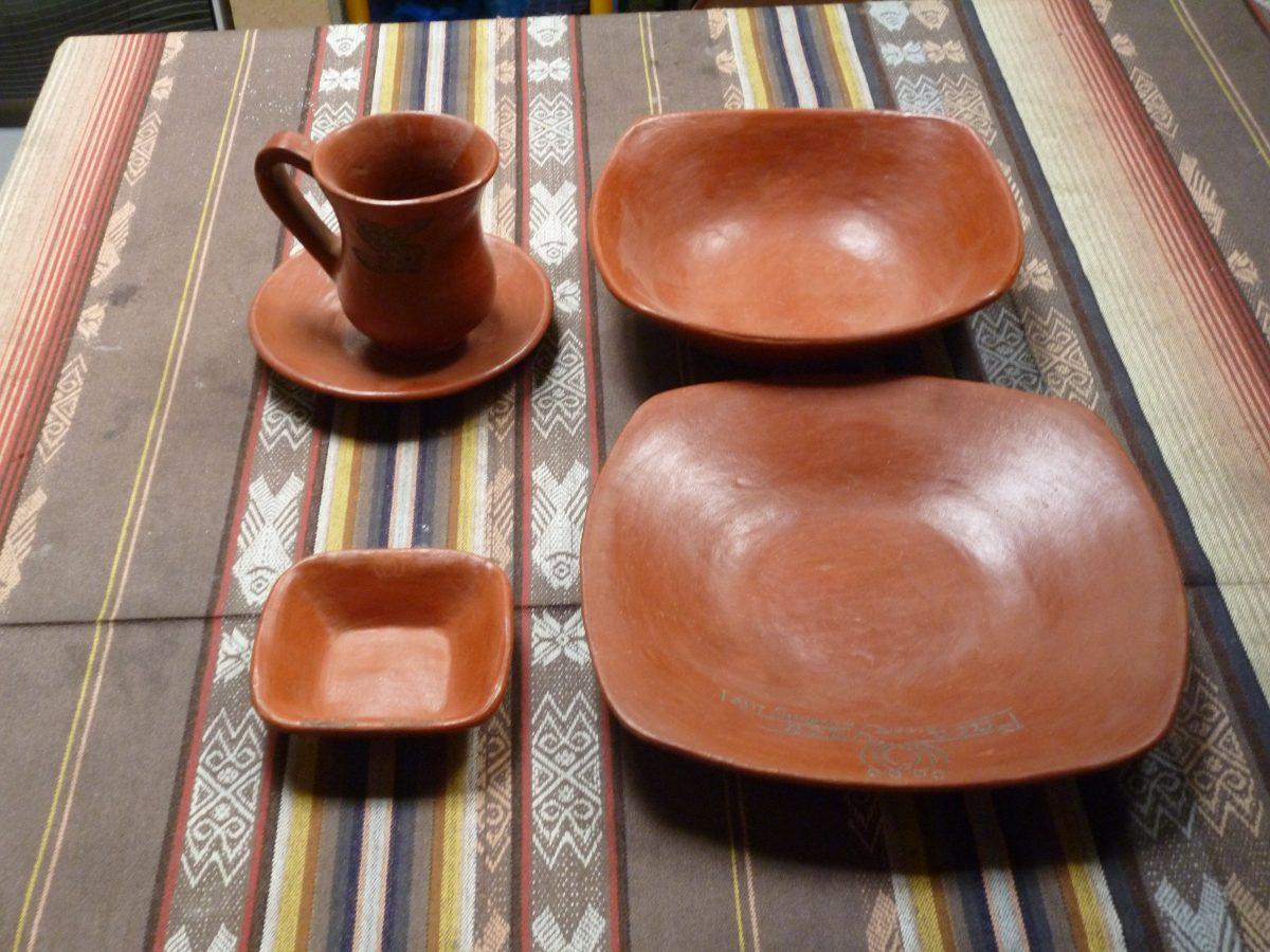 Vajillas de barro platos tazas vasos platillos u s for Vajilla de platos