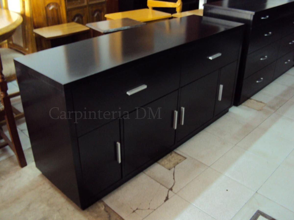 Bajo Vajillero Mueble De Comedor Wengue Carpinteriadm 9 350 00  # Muebles Vajilleros Para Comedor
