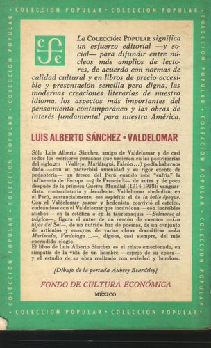 valdelomar o la belle époque luis a sanchez 1a edición