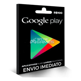 Vale Google Play Gift Card R$ 100 Reais Brasil Br Android