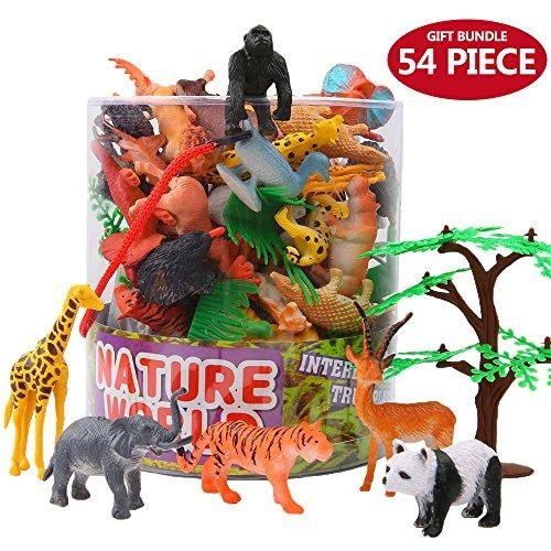 c61571897445 Valefortoy 54 Figuras De Animales Pequeños De La Jungla Con ...