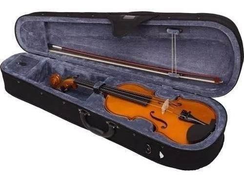 valencia violin de estudio 4/4 con estuche y arco v1604-4.