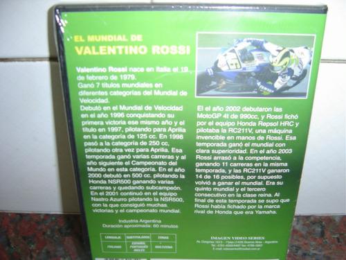 valentino rossi,  excelente ,  dvd  ....corredor de motos...