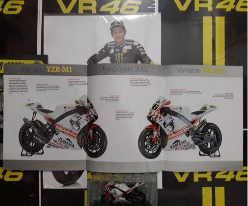 valentino rossi moto 1:18 yamaha yzr-m1 2007. licencia vr46.