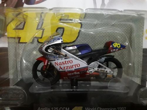valentino rossi moto1:18 aprilia as125-1997 licencia vr46.