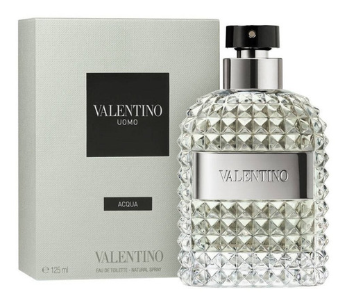valentino uomo acqua 125ml masculino | original caixa avr