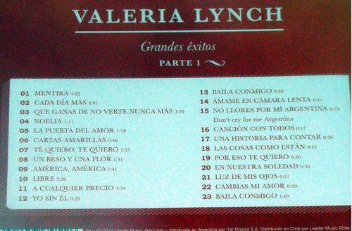 valeria lynch grandes exitos partes 1 y  2, 2 cds sellados