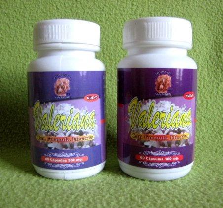 valeriana antistress,100% natural, 2 frascos, envio gratis