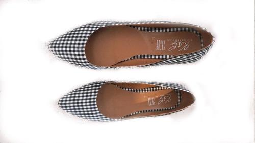 valerina flats puntal elegante moda ante ideal para oficina suave filos en color oro calzado dama economico