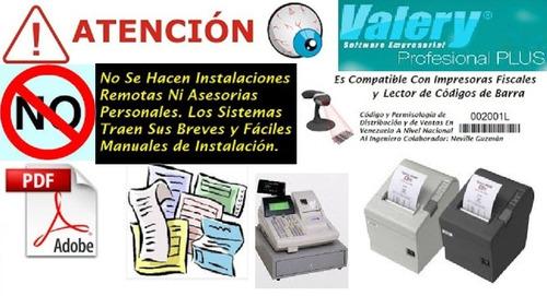 valery 1.96 sistema administrativo facturar tiendas y pyme
