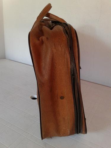 valija antigua vintage marron 68cm x 42cm