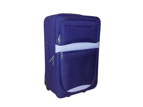 valija grande de tela. 28  con carro. color violeta