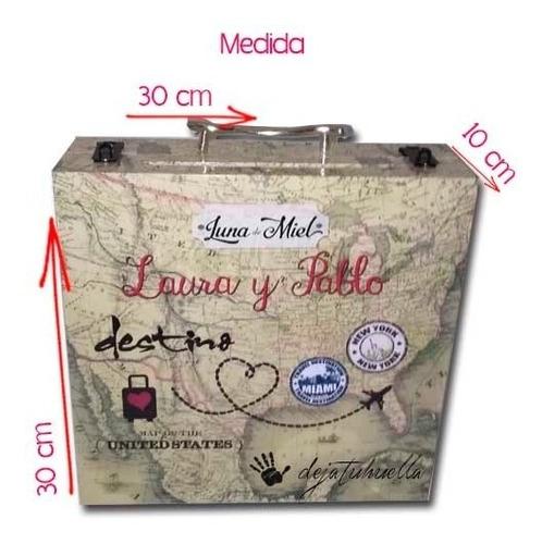 valija maletín luna d miel 15 años,urna, buzón premium