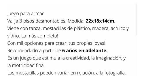valija mostacillas 3 pisos grande armar bijou july toys