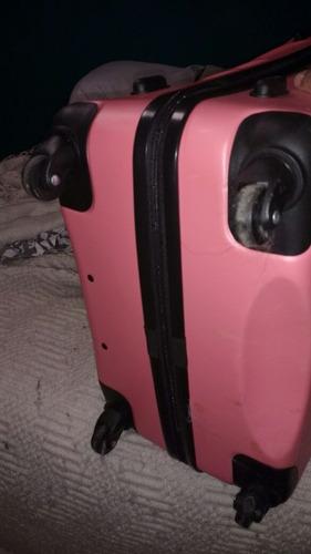 valija rigida color rosa
