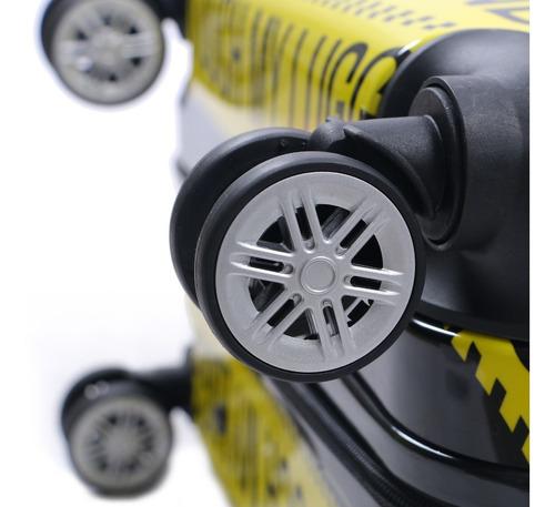 valija rígida mediana 24  4 ruedas de giro 360 candado irrompible manija telescopica extensible forrada happy buy
