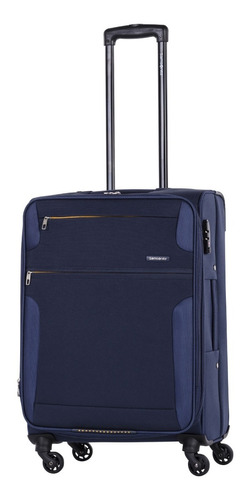 valija semi rigida bahia expansible azul mediana samsonite