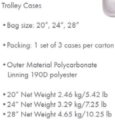 valija swissbrand rigida titan tamaño 24