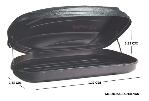 valija, valijon de techo 370 litros portaequipaje reforzada