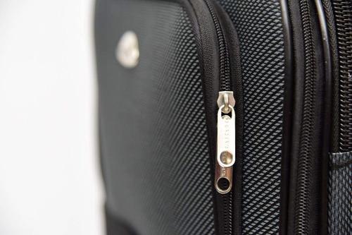 valija viaje mediana de tela maleta 4 ruedas border's g9 top