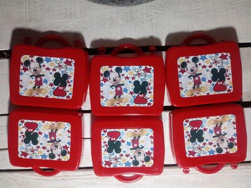 valijita personalizada con 3 plastilinas y 2 cortantes x 25