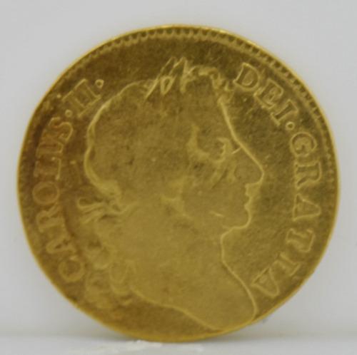 valiosa moneda carolus ii oro macizo 1679 unica