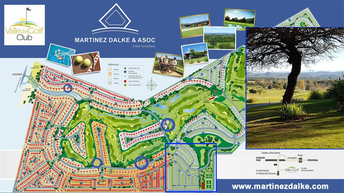 valle del golf - manzana 22 - lote central