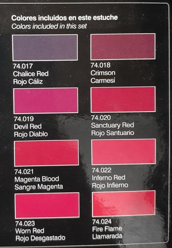 vallejo nocturna fantasy pro 74103 crimson red set