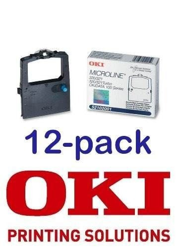 value pack de 12 okidata black nylon ribbon para impresoras