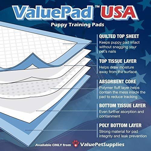 valuepad 150 23x36 50 gram dog training puppy pads