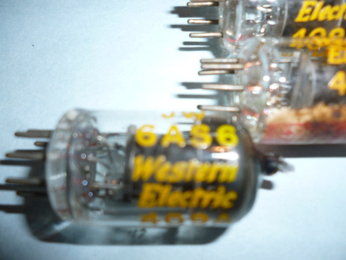 valvula 6as6 western electric , made in usa , vintage ,