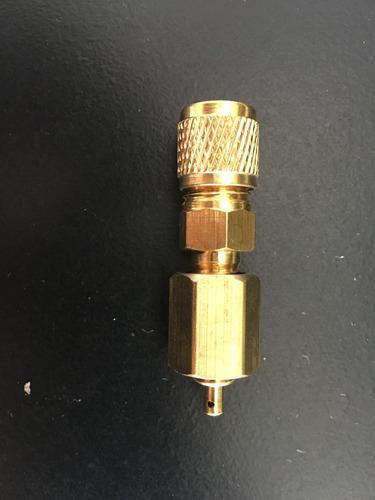válvula adaptadora lata gas 1/4 cargar r22, r410, r134a, etc