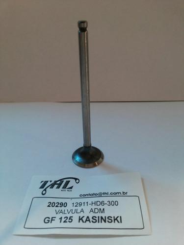 válvula admissão kasinsk gf 125/cruiser 125 thl