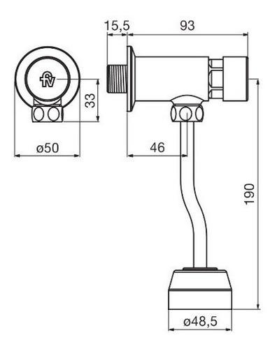 válvula automática para mingitorio ecomatic 373.01 cromo fv
