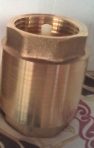 valvula check 1 pulgada cuerpo de bronce para bombas